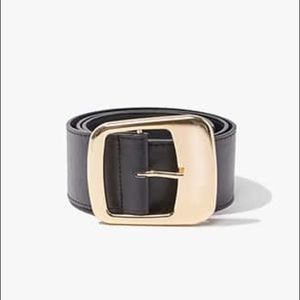 NWT Wide Faux Leather Belt